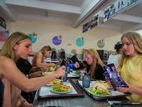 IVHQ Volunteers dining in Portugal