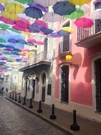 IVHQ volunteers exploring San Juan's Foraleza Street during an IVHQ weekend