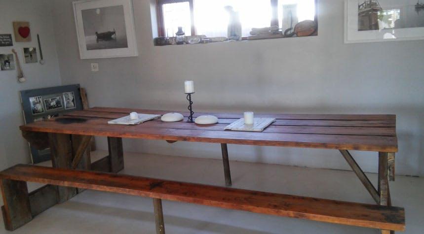 Volunteer dining room in South Africa