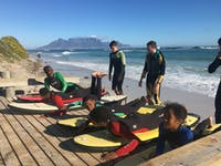Volunteers on the Surf project in South Africa