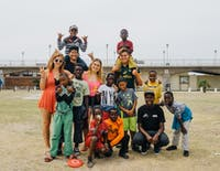 A volunteer on the Childcare project in South Africa