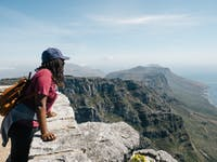 IVHQ volunteer exploring Table Mountain in Cape Town, South Africa with IVHQ
