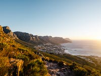Sunset from Lions Head in South Africa with IVHQ