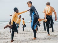 South Africa surfing volunteers in South Africa