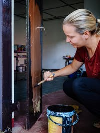 Temple Renovation volunteer in Sri Lanka