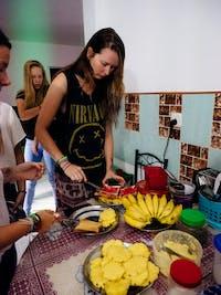 IVHQ volunteers serving Breakfast in Sri Lanka