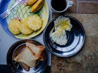 IVHQ volunteer Breakfast in Kanday, Sri Lanka