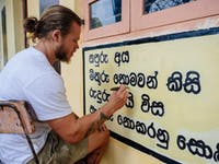 Temple Renovation volunteer in Sri Lanka IVHQ