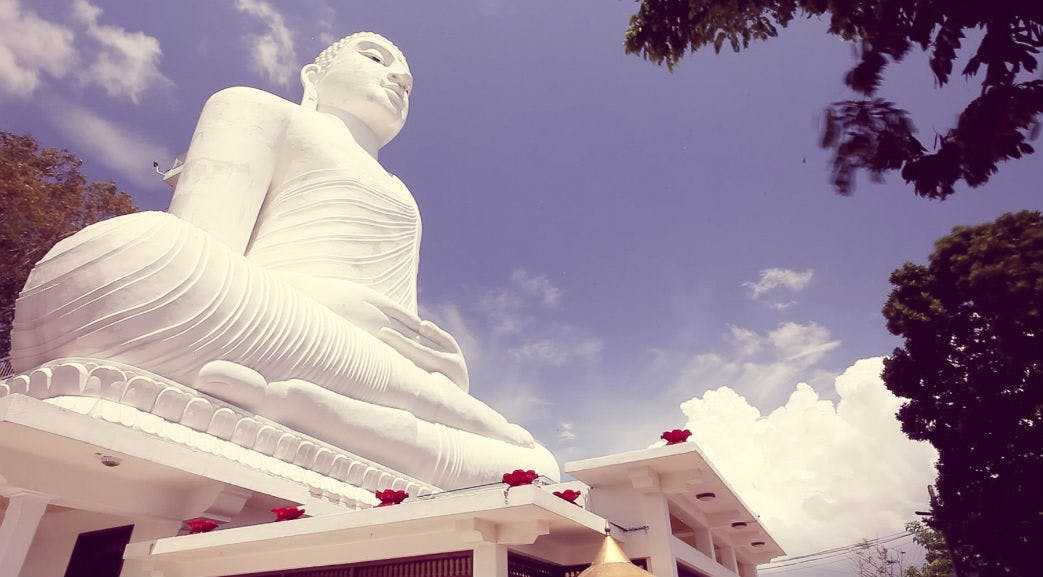 Giant Buddha statue in Sri Lanka