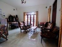 Volunteer house living room Kandy, Sri Lanka
