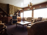 A typical homestay lounge in Tanzania