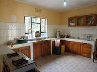 A typical homestay kitchen in Tanzania