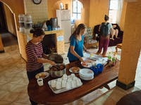An IVHQ homestay dinner in Tanzania