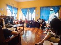 An IVHQ volunteer orientation in Tanzania