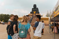 Visiting Mongkol Temple in Hua Hin Thailand during an IVHQ weekend
