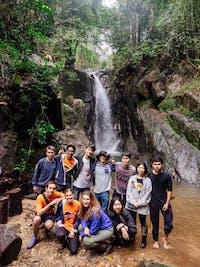 Group of IVHQ volunteers trek in Chiang Rai during an IVHQ weekend