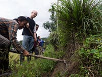 Outdoor work volunteers in Thailand with IVHQ