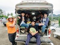 IVHQ volunteers tuk tuk in Chiang Rai during an IVHQ weekend