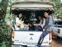 Outdoor work volunteers travel to placement in Thailand with IVHQ
