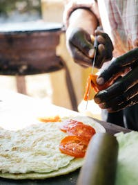 Making Rolex food in Uganda with IVHQ
