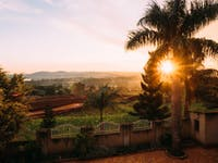 View from volunteer house in Uganda with IVHQ