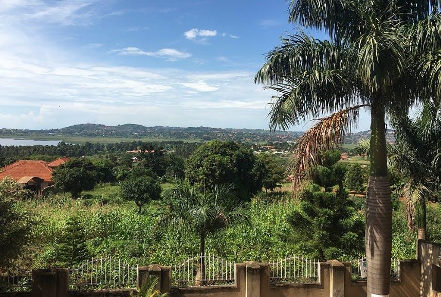 View from volunteer house in Uganda