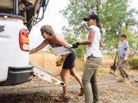 Conservation volunteers working in Victoria Falls with IVHQ
