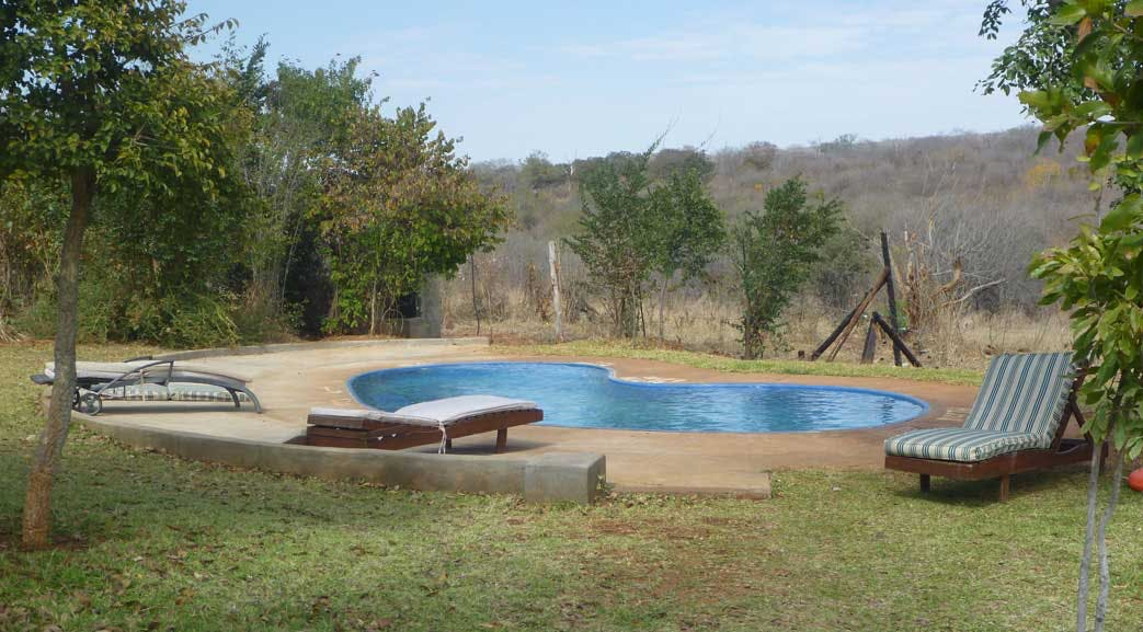 Free time can be spent by the pool in Victoria Falls