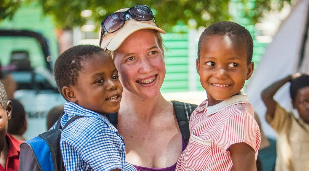 Looking after children in Victoria Falls