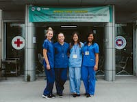 Group of Medical volunteers with IVHQ in Vietnam - Ho Chi Minh City