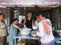 Food Outreach volunteers with IVHQ in Vietnam