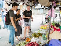 IVHQ volunteers visit markets in Vietnam