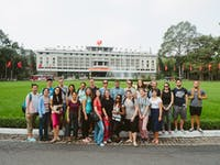 Volunteers visit Independence Palace with IVHQ in Vietnam