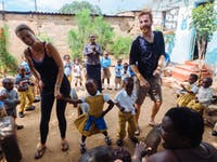 Childcare volunteers in Zambia with IVHQ