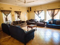 IVHQ Zambia sitting room in the volunteer house