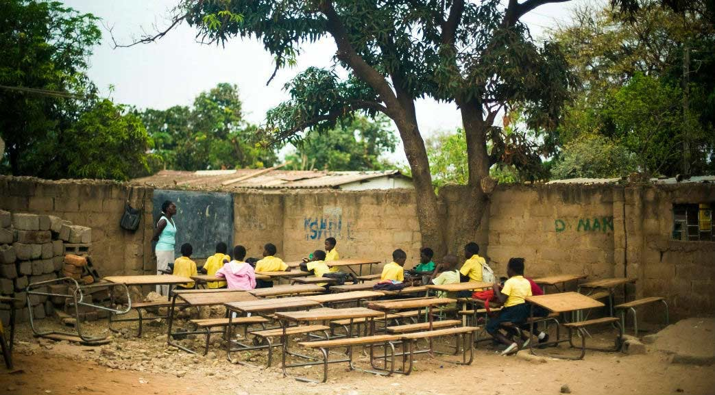 Classroom in Zambia with IVHQ