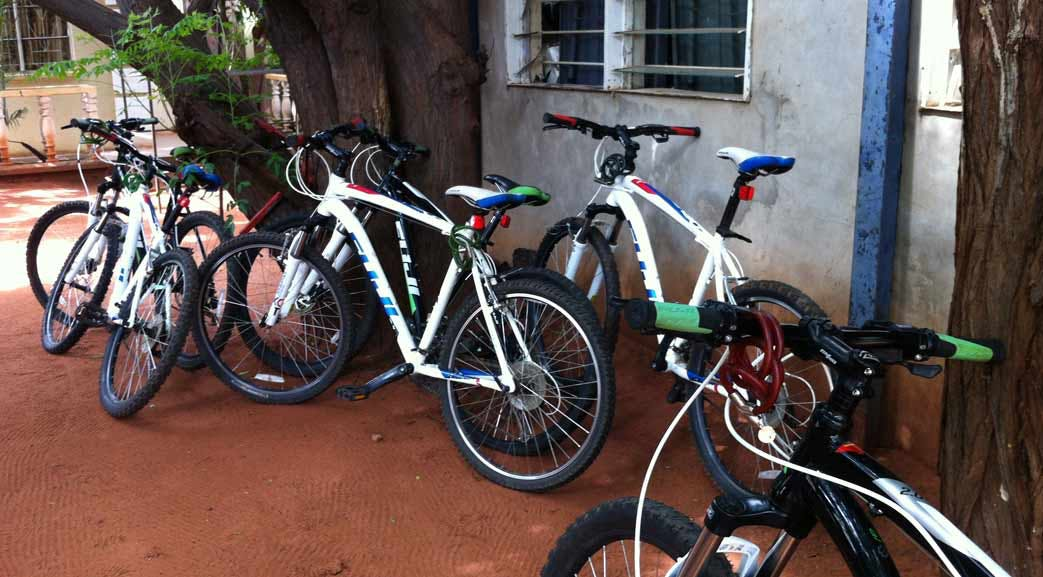 Volunteers bikes available to hire in Zambia