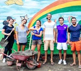 British volunteer overseas in Bali with International Volunteer HQ