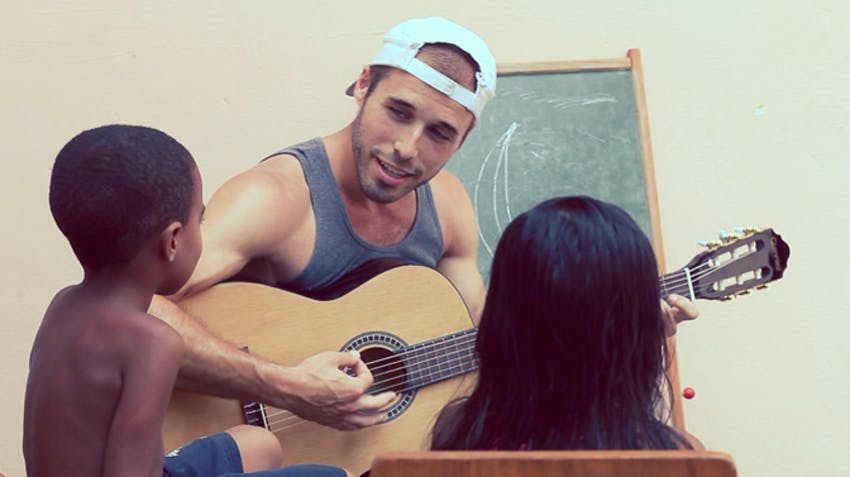 Childcare volunteer abroad activity ideas music