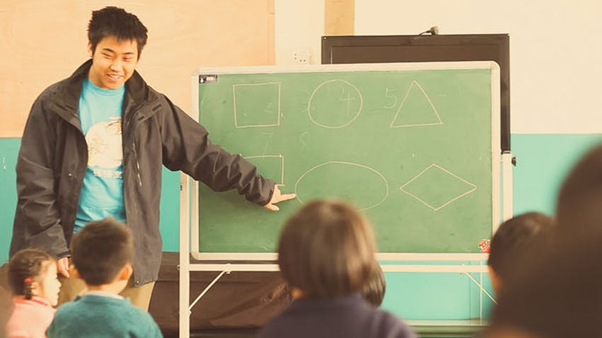 Teaching volunteer abroad activity ideas use symbols