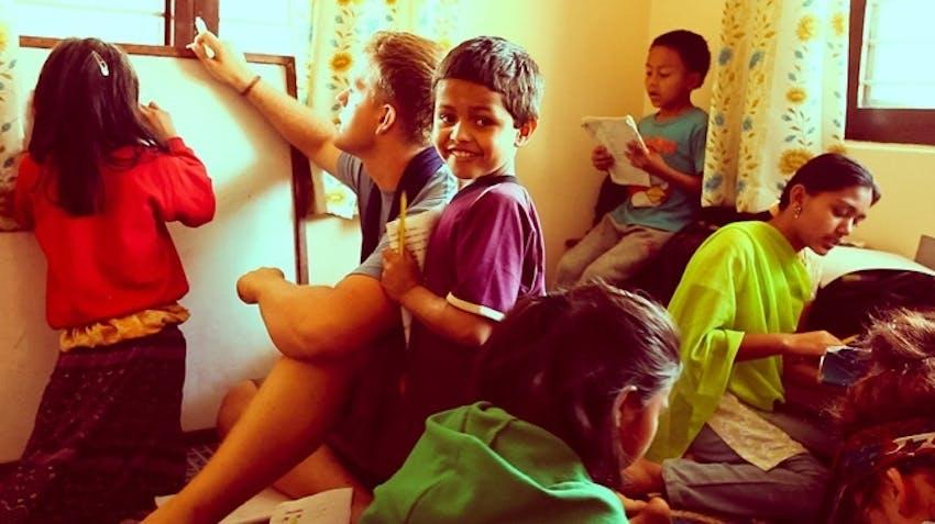 Childcare volunteer in Nepal with International Volunteer HQ