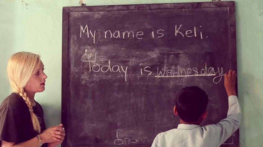 Teaching volunteer abroad activity ideas spelling bee