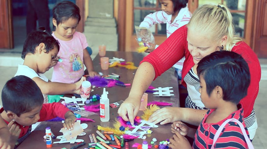 Childcare volunteer abroad activity ideas arts and crafts