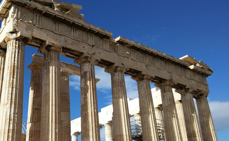 Visiting the Pantheon in Athens with IVHQ in Greece