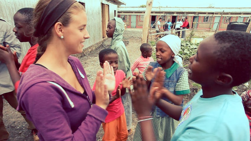 Charity work abroad in Kenya