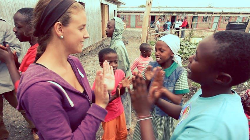 Charity work abroad in Kenya