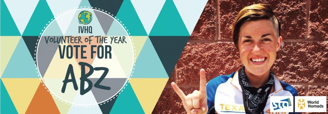 IVHQ Volunteer of the Year Finalist - Abz Zeitler
