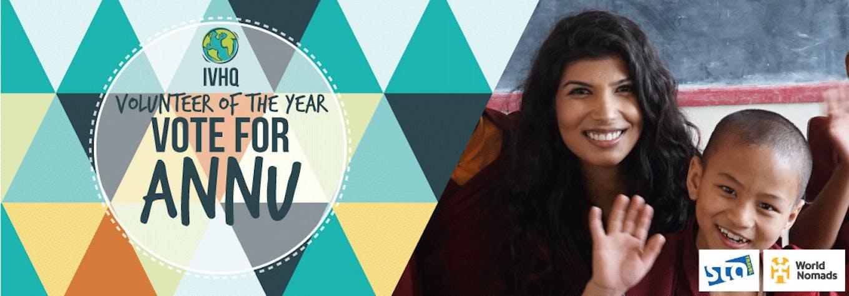 IVHQ Volunteer of the Year Finalist - Annu Gaidhu