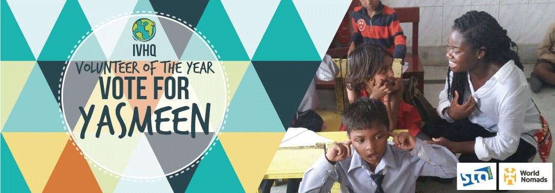 IVHQ Volunteer of the Year Finalist - Yasmeen