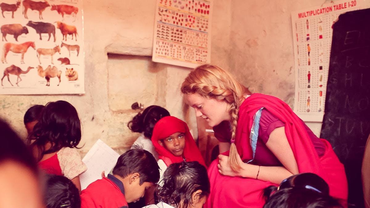 Teaching volunteer in India with IVHQ